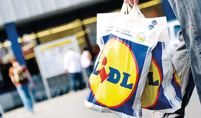 Self-service check-outs at Lidl